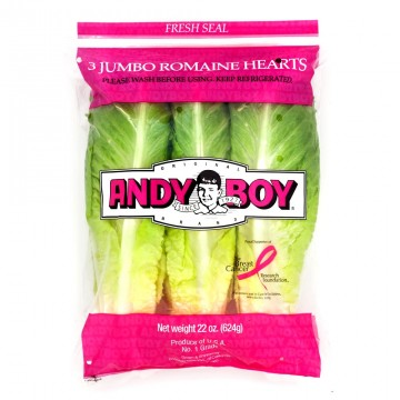 Andy Boy (or other) bag of 3 romaine hearts