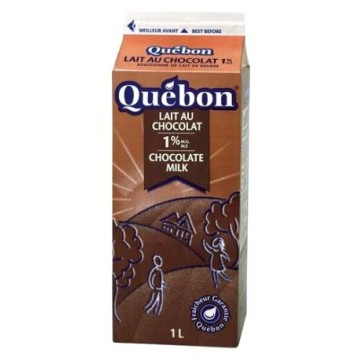 Quebon or beatrice chocolate milk 1l