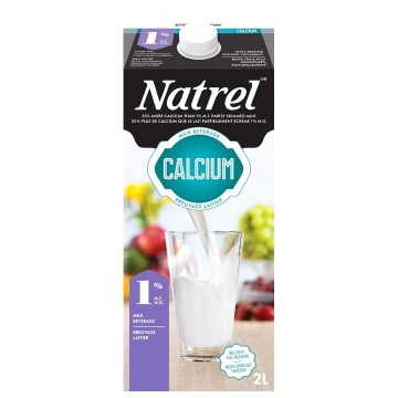 + Natrel milk with calcium 2l carton