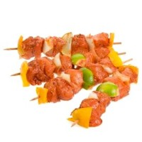 + Chicken brochette (4 cubes) with peppers and onions ≈ 15og