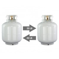 Used 20lb propane tank exchange