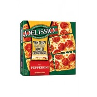 + Delissio thin & crispy crust pizza 555g-630g