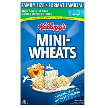+ Kellogg's Mini Wheat cereals 700g (family size)
