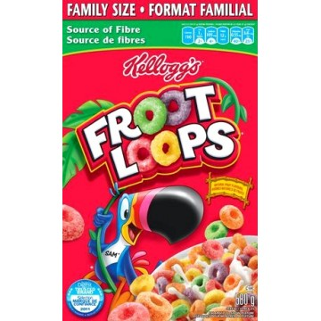 Kellogg's Froot Loops cereals 580g (family size)