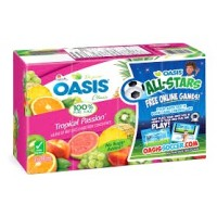 + Oasis juice 8x 200ml pack