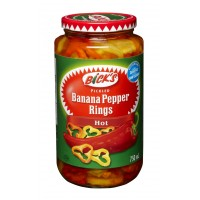 Bick's hot banana pepper rings 750ml