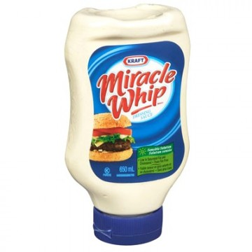 + Kraft Miracle Whip spread 650ml (squeeze)
