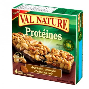+ Barres tendres Val Nature (4) protéines 148g