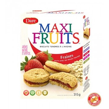 + Dare Maxi Fruits cookies 315g