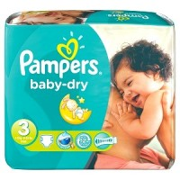 + Pampers baby dry diapers size 1-6