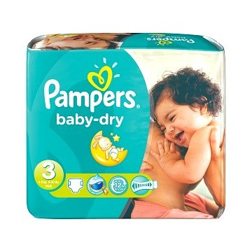 Couches Pampers Baby Dry Taille 1 6 Totavo