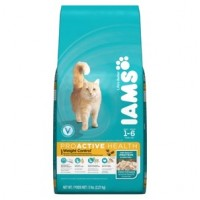 + Iams cat food 1-6 years 2.27kg