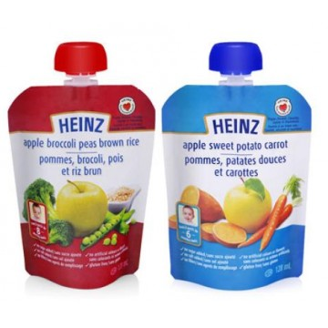 + Heinz baby food in drinkable bag 128ml