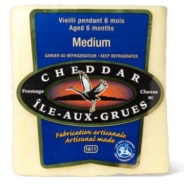 + Ile-aux-grues old cheddar cheese from Quebec 200g