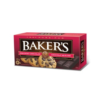 + Baker's baking chocolate 170g-225g