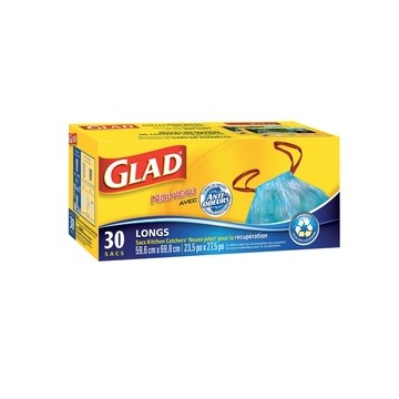Glad blue recycling bags 23.5in x 27.5in (30)