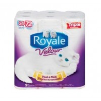 Royale Velour toilet paper (24 triple rolls)
